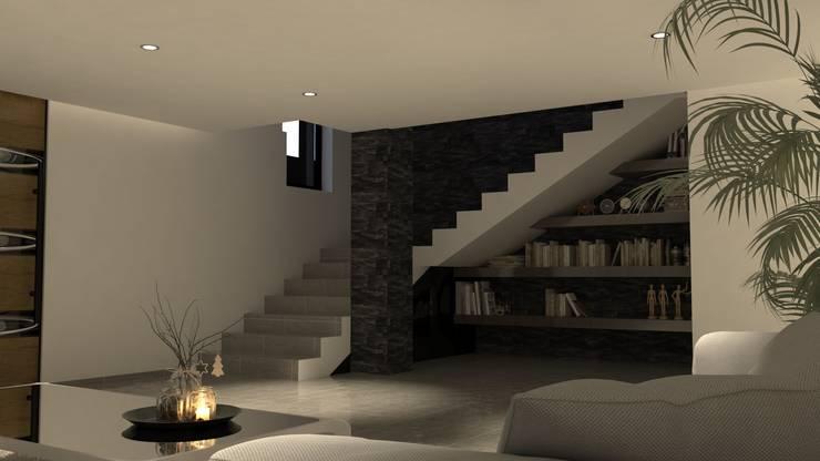 Pasillos y vestíbulos de estilo  por V Arquitectura