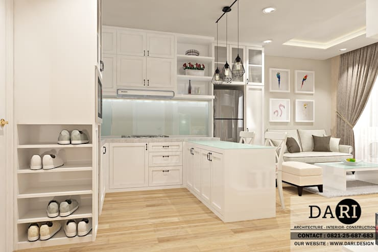 dining table + kitchen :  Kitchen by DARI