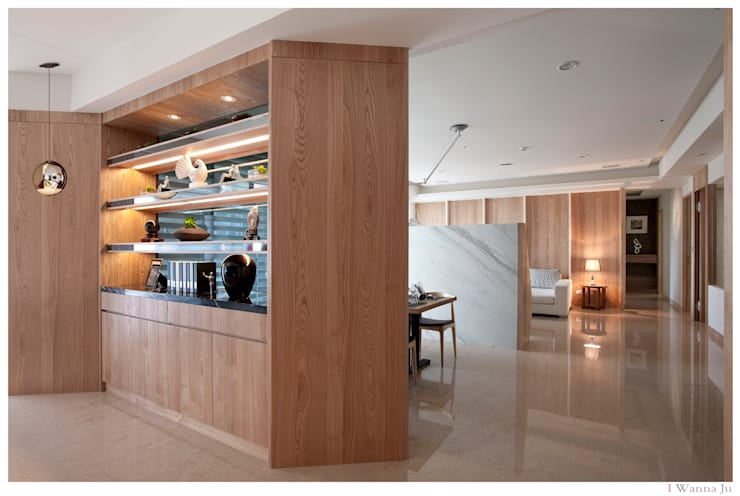 Salas / recibidores de estilo  por 北歐制作室內設計,