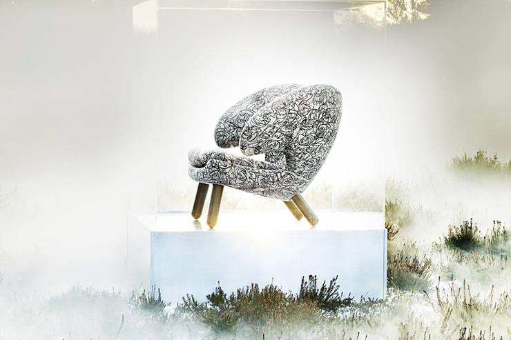 解放坐姿!擁抱般的舒適感《鵜鶘椅》:  客廳 by 北歐櫥窗