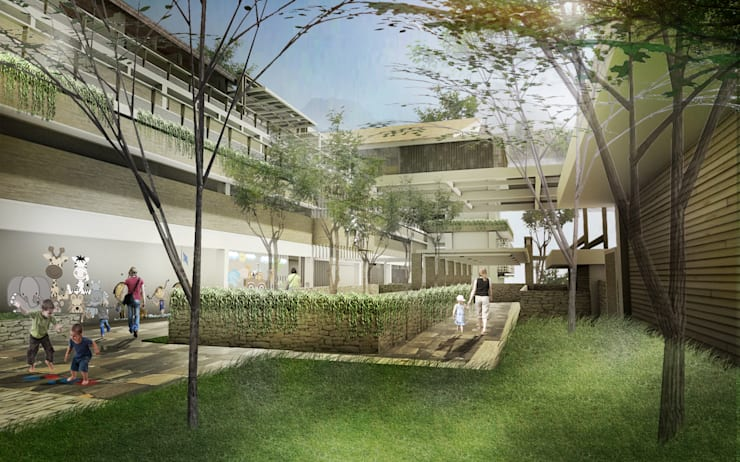 Plaza between therapy building and School:  Sekolah by Sanny Yuwono