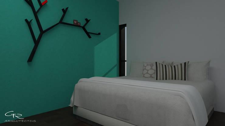 HOUSE SA-D TULA: Recámaras de estilo moderno por GT-R Arquitectos