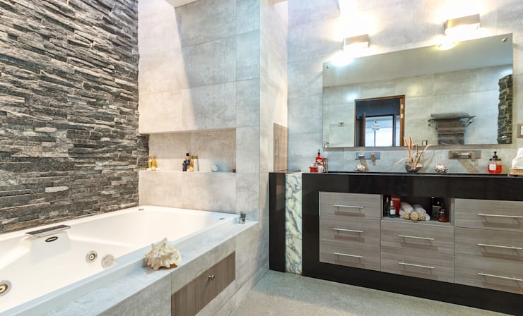 Baño: Baños de estilo  por SANTIAGO PARDO ARQUITECTO