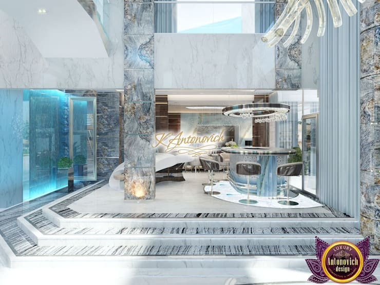 ​Luxury interior design projects in Dubai UAE from Katrina Antonovich:  Corridor & hallway by Luxury Antonovich Design