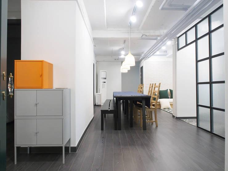 압구정 한양아파트 리모델링: 달달하우스의  다이닝 룸,모던