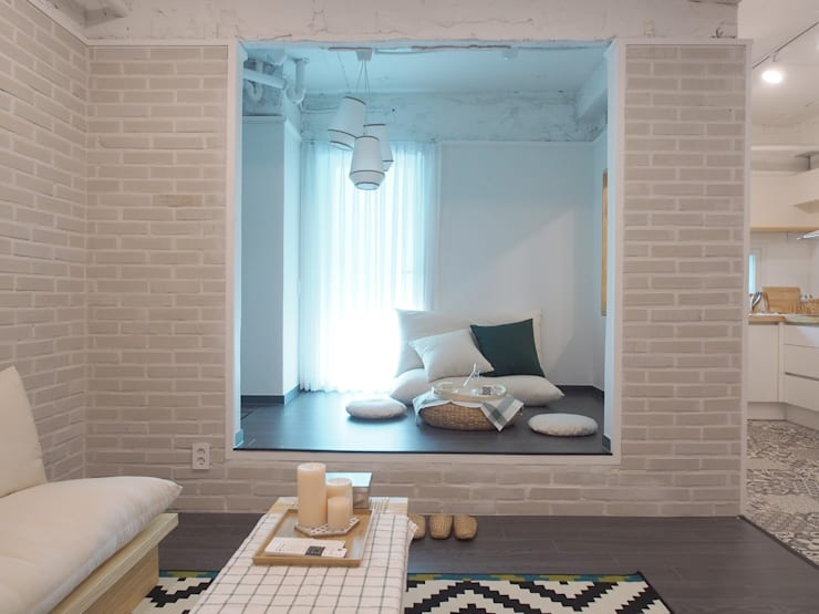 غرفة المعيشة تنفيذ 달달하우스