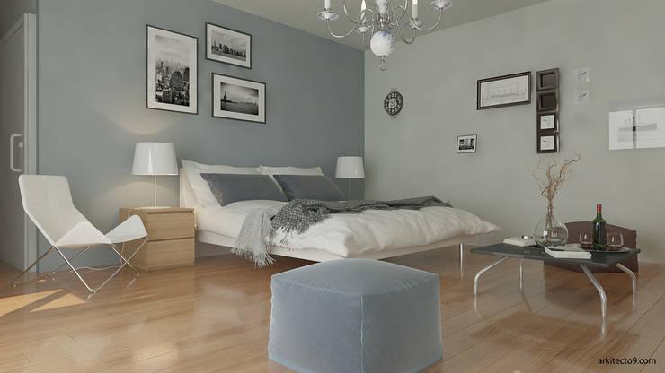 Dormitorios de estilo  de arquitecto9.com,