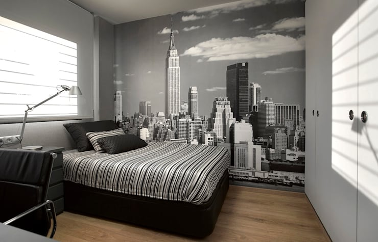 Contemporary bedroom: modern  by S. T. Unicom Pvt. Ltd. ,Modern