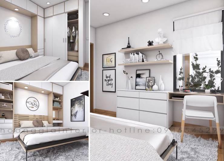 Thiết kế nội thất căn hộ chung cư  Park Hill Time city – nhà anh Linh:  Biệt thự by Nội Thất Hoàng Gia