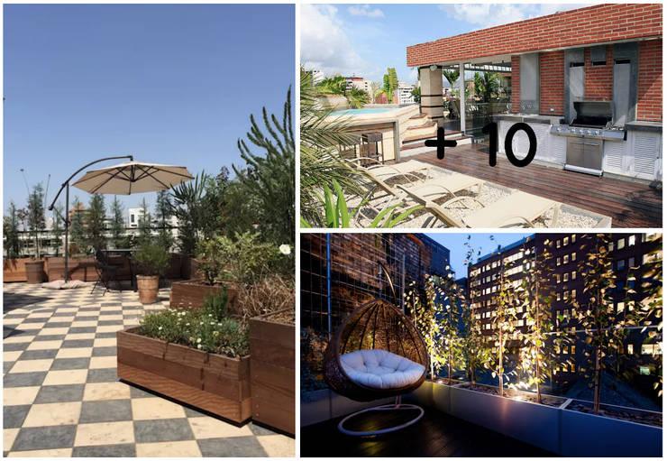 CO Collage Balcones y terrazas de estilo moderno de press profile homify Moderno