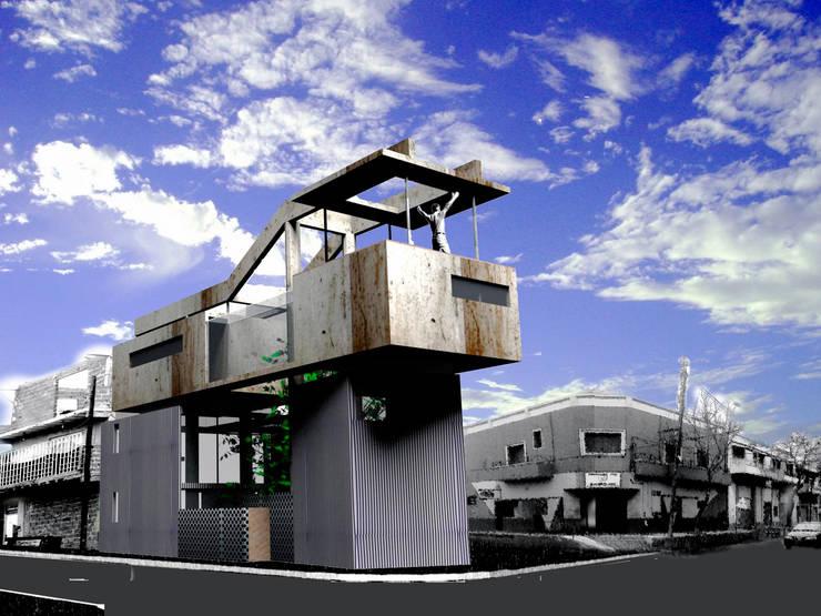 Casa en La Boca: Casas unifamiliares de estilo  por Arq. Ilacqua,