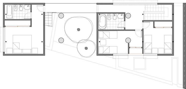 Planta Alta: Casas unifamiliares de estilo  por Arq. Ilacqua,