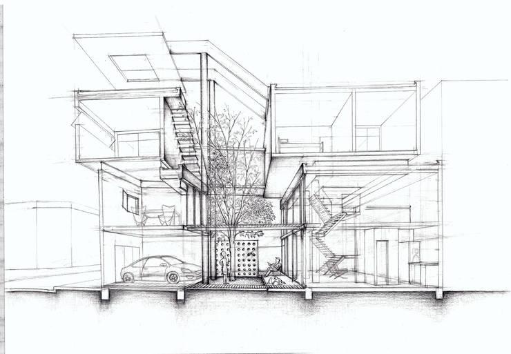Croquis: Casas unifamiliares de estilo  por Arq. Ilacqua,