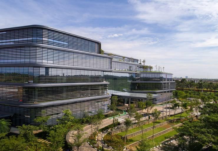 """Aedas-designed Unilever Headquarters in Indonesia inaugurates: {:asian=>""""asian"""", :classic=>""""classic"""", :colonial=>""""colonial"""", :country=>""""country"""", :eclectic=>""""eclectic"""", :industrial=>""""industrial"""", :mediterranean=>""""mediterranean"""", :minimalist=>""""minimalist"""", :modern=>""""modern"""", :rustic=>""""rustic"""", :scandinavian=>""""scandinavian"""", :tropical=>""""tropical""""}  by Architecture by Aedas,"""