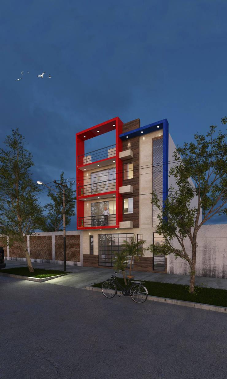 VIVIENDA MULTIFAMILIAR - COMERCIAL - CHICLAYO: Casas multifamiliares de estilo  por CN y Arquitectos