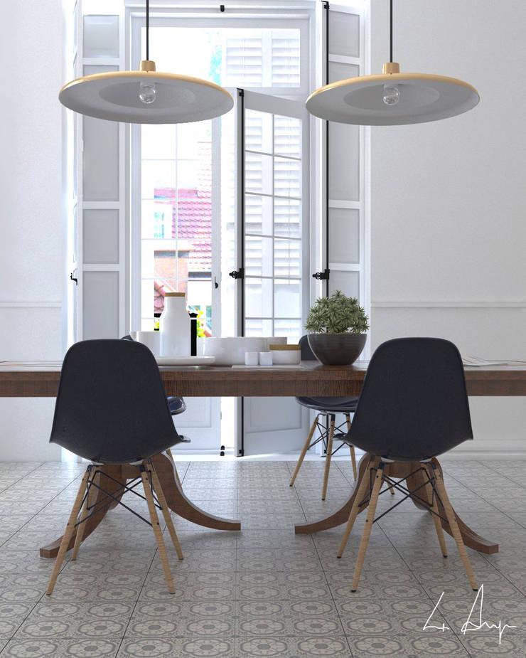DISEÑO Y DECORACIÓN DE INTERIORES- COMEDOR: Comedor de estilo  por CN y Arquitectos