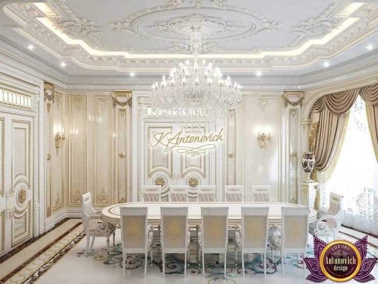 Interior design projects in Dubai from Katrina Antonovich:  Dining room by Luxury Antonovich Design, Classic