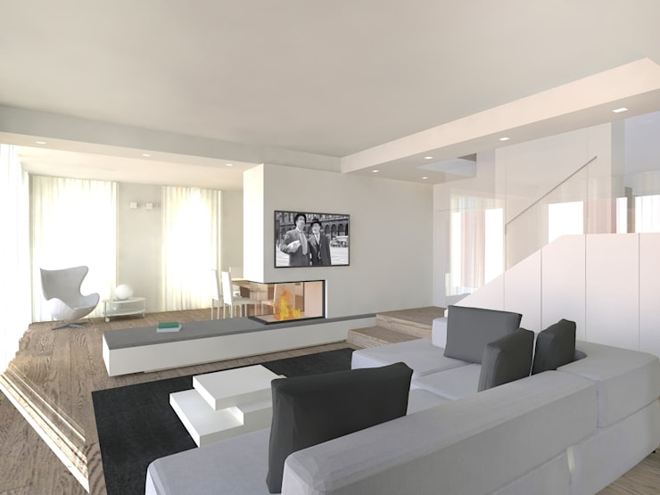 Ruang Keluarga oleh Flavia Benigni Architetto, Modern