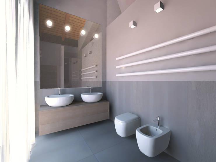 Kamar Mandi oleh Flavia Benigni Architetto, Modern