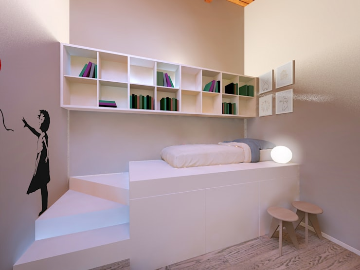Bedroom by Flavia Benigni Architetto