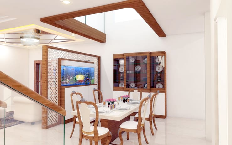 PENTHOUSE DESIGNS:  Dining room by shree lalitha consultants