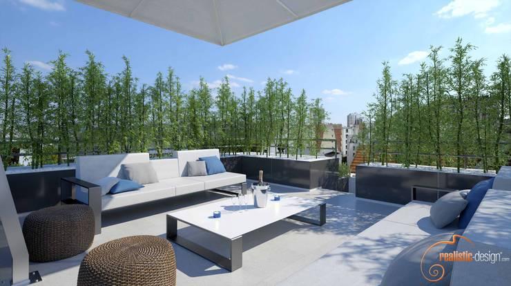 Proyecto 3D : Terrazas de estilo  de Realistic-design
