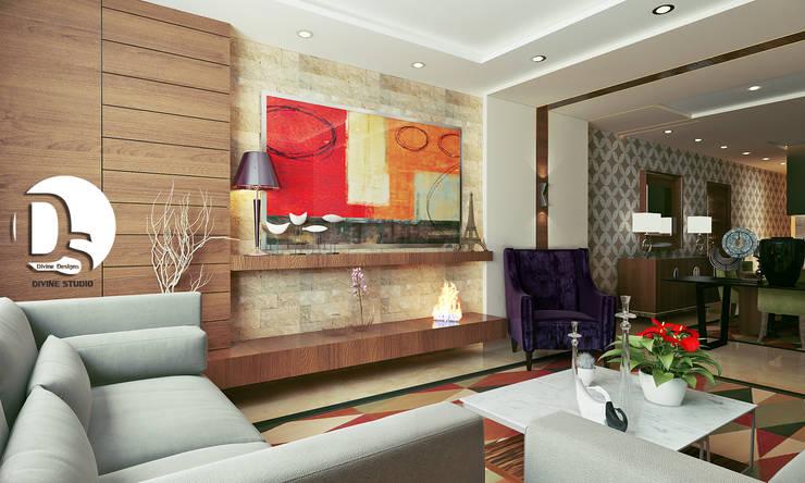 غرفة المعيشة تنفيذ Devine Designs