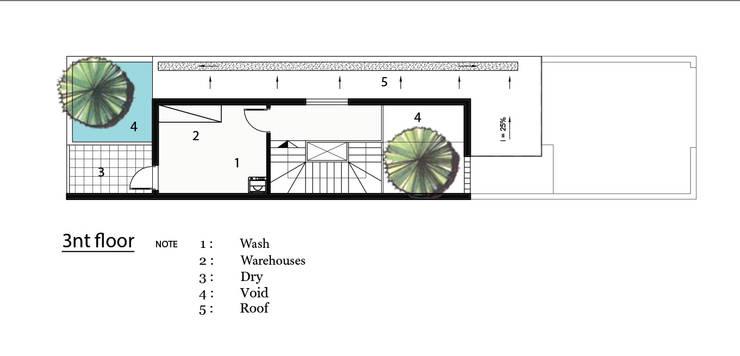 T HOUSE.:  Nhà gia đình by AE STUDIO DESIGN