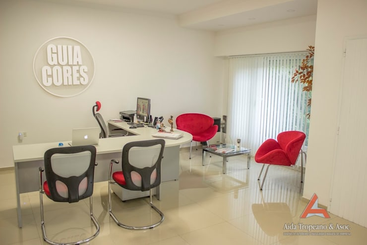 Recepcion: Estudios y oficinas de estilo moderno por Aida Tropeano & Asoc.