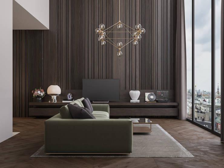 Appartamento di 98 mq uso affitto di lusso: Soggiorno in stile  di Archventil - Architecture and Design Studio
