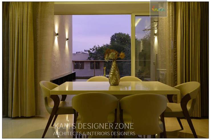 Dining Area Interior Design:  Dining room by KAM'S DESIGNER ZONE