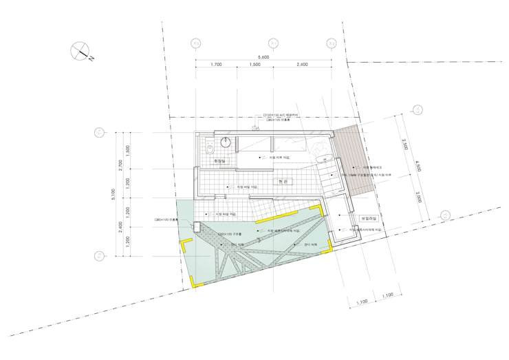 1F FLOOR PLAN: yoonzip interior architecture의