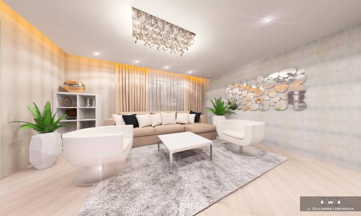 Living room by Дизайн интерьера под ключ - GDESIGN
