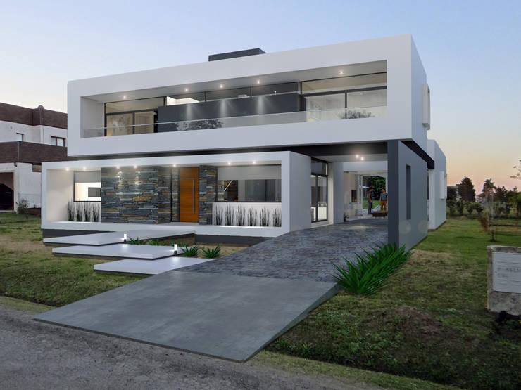 Casa D+T - RESIDENCIA PERMANENTE: Casas de estilo  por D'ODORICO ARQUITECTURA,