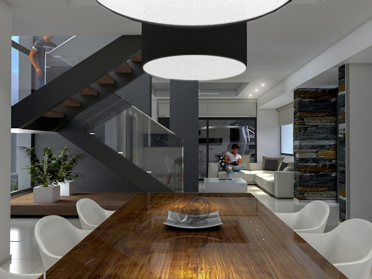Casa D+T – RESIDENCIA PERMANENTE: Comedores de estilo  por D'ODORICO ARQUITECTURA,