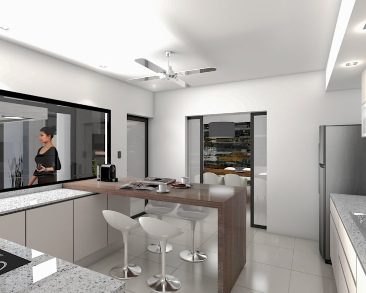 Casa D+T – RESIDENCIA PERMANENTE: Cocinas de estilo  por D'ODORICO ARQUITECTURA,