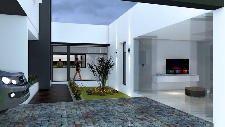 Casa D+T – RESIDENCIA PERMANENTE: Jardines de estilo  por D'ODORICO ARQUITECTURA,