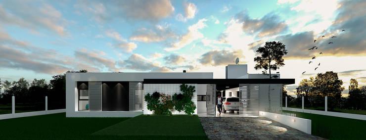 Casa CL -  RESIDENCIA DE FIN DE SEMANA: Casas de estilo  por D'ODORICO OFICINA DE ARQUITECTURA