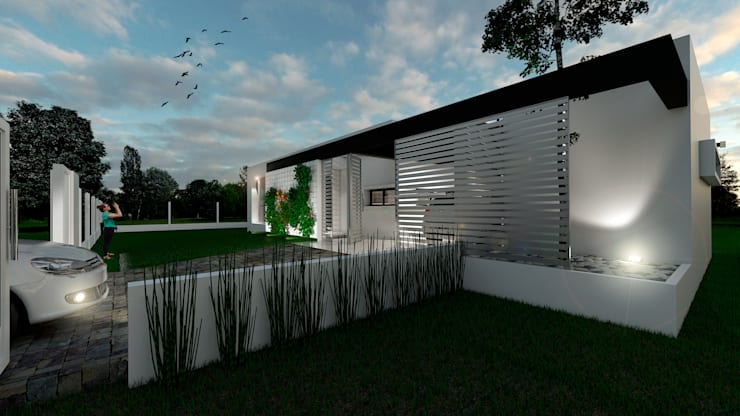 Casa CL –  RESIDENCIA DE FIN DE SEMANA: Casas de estilo  por D'ODORICO OFICINA DE ARQUITECTURA
