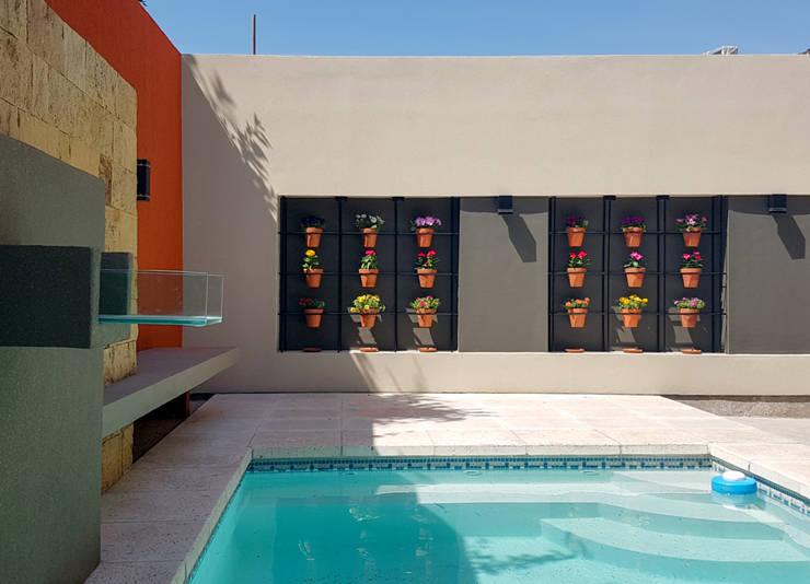 Piscinas Exclusivas: Piletas de estilo  por D'ODORICO OFICINA DE ARQUITECTURA