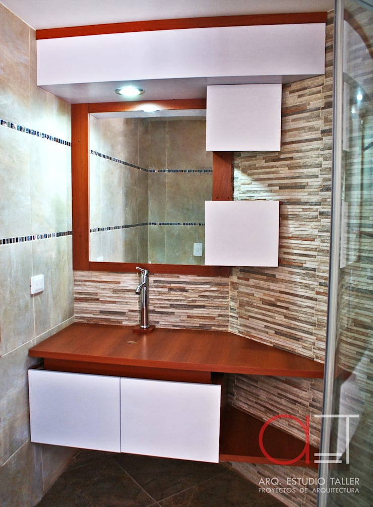 Mueble para baño:  de estilo  por Arq. Estudio Taller, Moderno Madera Acabado en madera