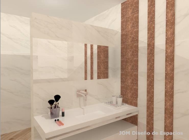 Baño femenino: Baños de estilo  por JOM Diseño de Espacios,