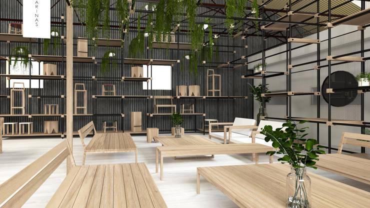Showroom Las Marinas: Galerías y espacios comerciales de estilo  por TC Estudio,
