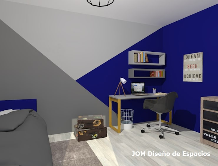 Dormitorio Matías: Dormitorios de estilo  por JOM Diseño de Espacios