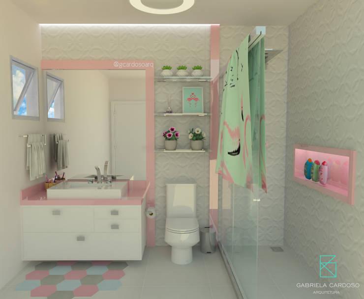 Baños de estilo  por Gabriela Cardoso Arquitetura
