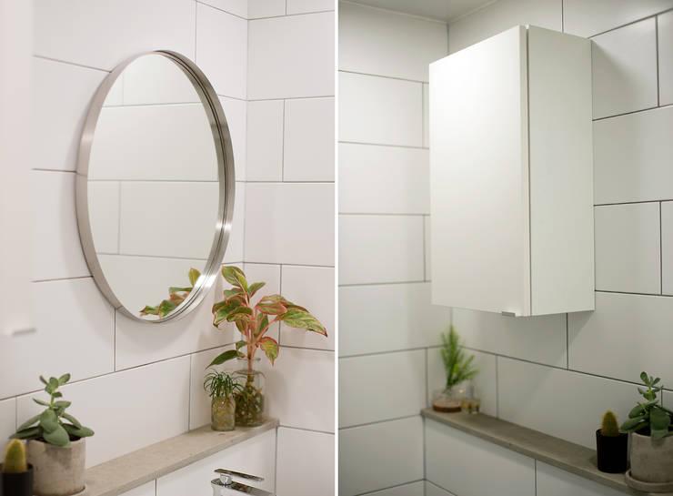 더불어 살아가는 집_서래마을 빌라 인테리어: (주)바오미다의  욕실
