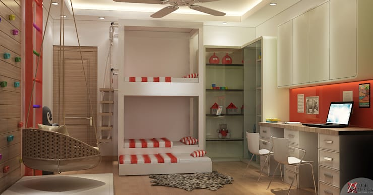 KID'S BEDROOM:  Teen bedroom by MAD DESIGN
