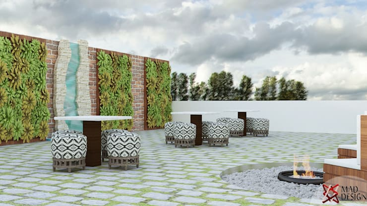 TERRACE VIEW 1:  Terrace by MAD DESIGN