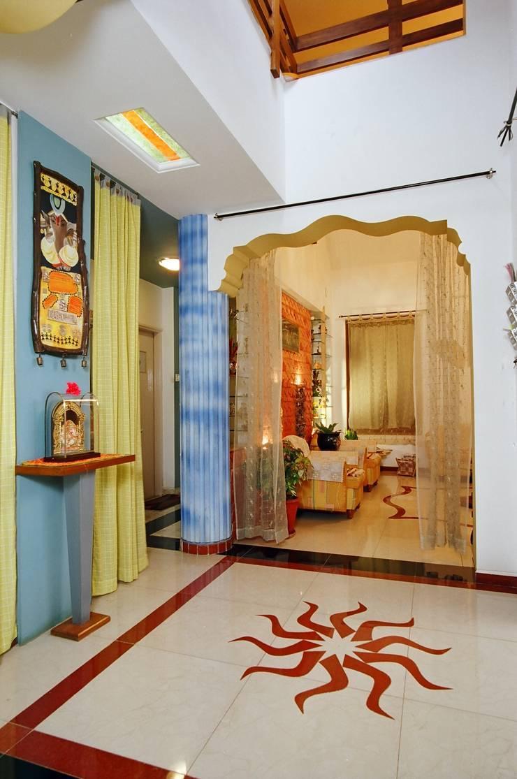 Central Courtyard - Brahmasthan:  Artwork by Spacecraftt Architects
