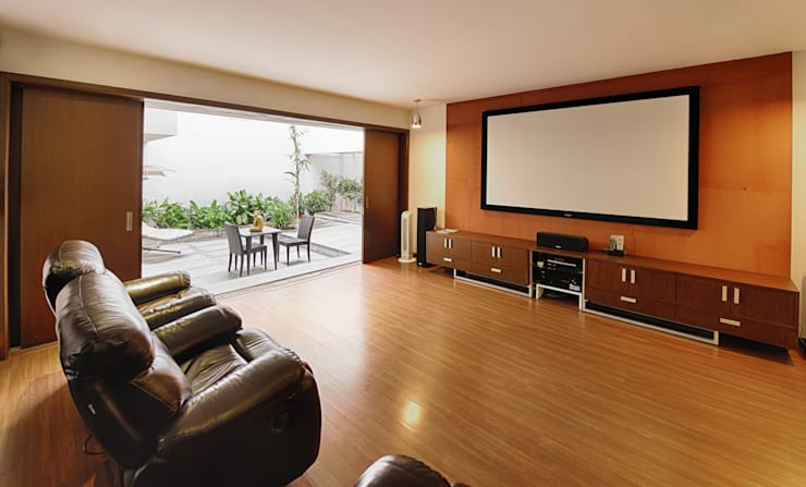 Mobius Home: modern Living room by Architecture Continuous